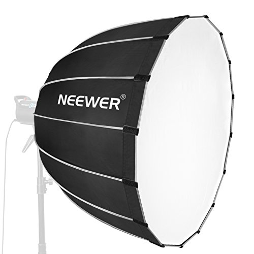 Neewer Difusor hexadecagonal, 90 cm, con Borde Gris y Montaje de Bowens, portátil, se pliega rápidamente, para fotografía, Accesorios de Flash, Flash monoluz y Mucho más