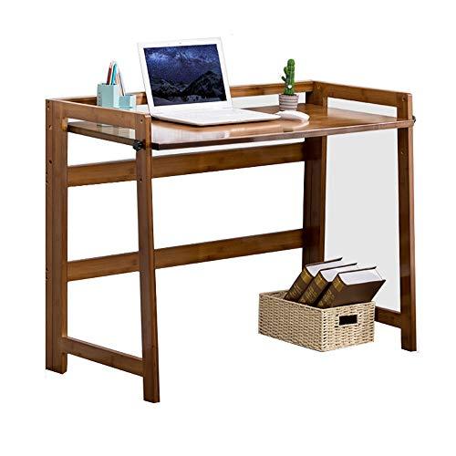 Opvouwbaar Tafel-Opvouwbaar Bureau Modern en eenvoudig Bamboe Table Folding Computer Desk Desk Thuis aan tafel, All Bamboo materiaal, Folding Design, gladde textuur, sterk en stabiel in hoogte verstel