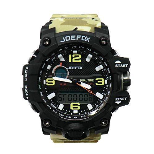 Joefox Military Watch Multifunktional Wasserdichte Elektronische Wasserdichte 50mt Sport-Display Mit LED-Hintergrundbeleuchtung (Farbe: Leichtes Militär)