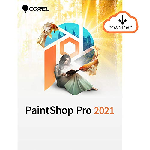 Corel PaintShop Pro 2021 | Photo Editing & Graphic Design Software | AI Powered Features [PC Download]