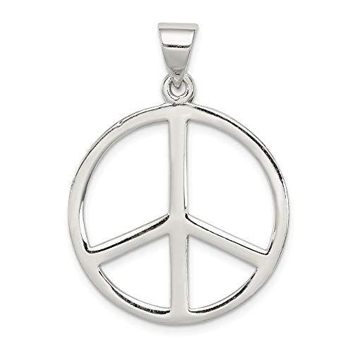 925 Sterling Silver Peace Symbol Pendant Charm Necklace Fine Jewelry For Women Gifts For Her