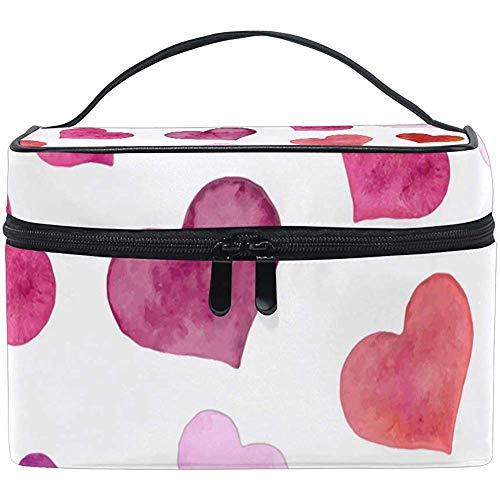 San Valentino reistas voor cosmetica, hartvormige tas, draagbaar, voor dames, meisjes