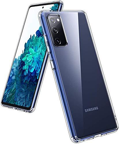 UNBREAKcable Kompatibel mit Samsung Galaxy S20 FE Hülle - Crystal Clear [Anti-Gelb und Kratzfest] Handyhülle Samsung S20 FE, Hartplastik Rückseite und Weich Silikon Bumper Hülle, Schutzhülle