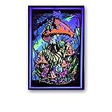 JHGJHK Póster alienígena, Arte psicodélico, impresión Abstracta por inyección de Tinta, Pintura al óleo Decorativa para Sala de Estudio y Sala de Estar (Imagen 4)