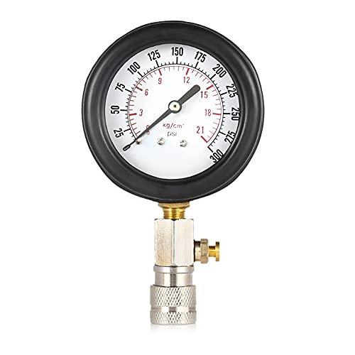 Tester per Cilindro del Motore a Benzina, Asudaro Manometro per Auto 0-300 PSI Tester per La Pressione del Cilindro Tester di Compressione del Motore a per Benzina Test Strumento Diagnostico Perdite