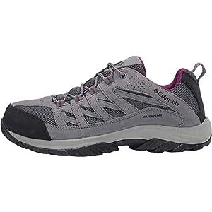 Columbia Women's Crestwood Mid Waterproof Hiking Shoe, Graphite, Wild iris, 8