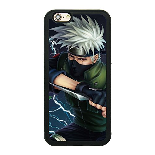 Kakashi Lightning Battle Naruto Anime Case For Iphone 6/6S (4.7 Inch) Comic TPU Silicone Rubber gel edge + PC Bumper Case Skin Protective Designed Printed Phone Protector Full Protection Cartoon Cover