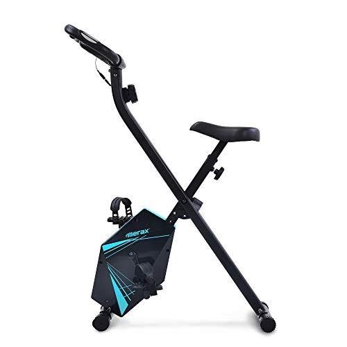 CDSL Bicicleta estática Fitness Bike Trainer 8 Niveles De Resistencia con Sensores De Pulso De Mano Y Entrenamiento De Entrenamiento para El Entrenador Interior Plegable para Uso Doméstico