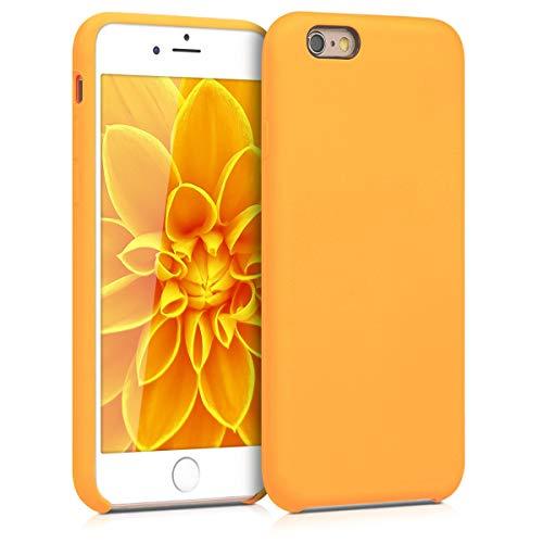 kwmobile Custodia Compatibile con Apple iPhone 6   6S - Cover in Silicone TPU - Back Case per Smartphone - Protezione Gommata Giallo Zafferano