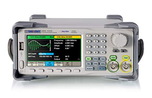 TTL Level Output Sampling Rate 266MSa//s Upgraded High Precision Dual-Channel Arbitrary Waveform Function Counter 2.4inch TFT Screen Zoxelect 60MHz DDS Signal Generator