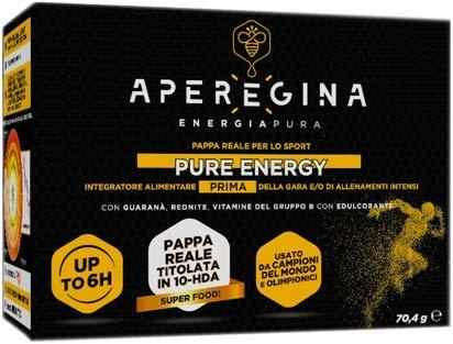 Pure Energy es un suplemento para deportistas a base de jalea real de altísima calidad, apoyado en maltodextrina, titulado en 10 HDA y furosina enriquecida con Guarananá, Rednite y vitaminas.