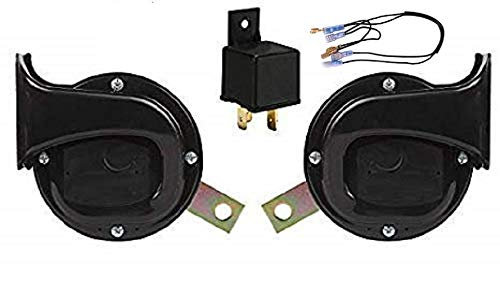 Iron Clutch Skoda Type windtone Square Shape Horn with Relay(12V)
