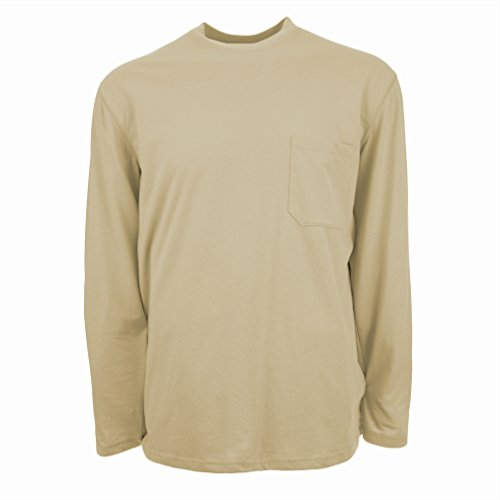 Insect Shield Men's UPF Dri-Balance Long Sleeve Pocket Tee, Wet Sand, X-Large