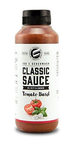 Got7 Classic Sauce Soße Salatsoße Grillsoße Perfekt Zur Diät Abnehmen Fitness Bodybuilding 350ml (Tomato Basil)