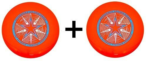 Discraft Ultra-Star Ultimate Frisbee 175 Gram Championship Discs-Orange (2-Pack)