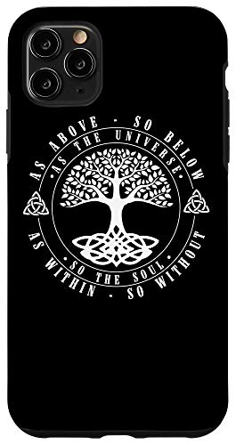 iPhone 11 Pro Max Celtic Tree Of Life Shirt As Above So Below Spiritual Yoga Case