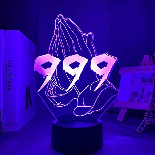 Luz nocturna en 3D Personajes de animación Interacción de juegos Luces creativas en 3D Luces LED en 3D Control de pantalla táctil de luces decorativas con 7 cambios de color