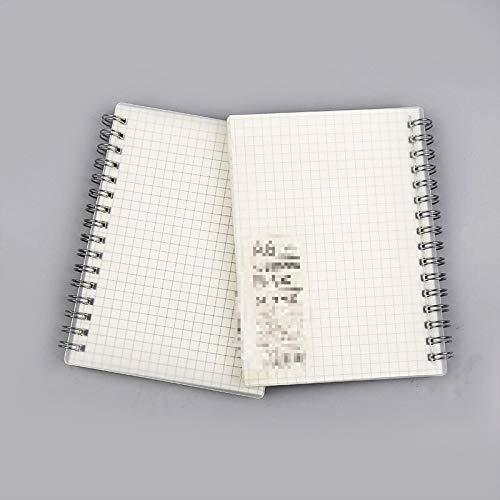 Cuaderno de celosía de cuadrícula de línea horizontal A6, Bloc de notas esmerilado en blanco suave para escribir, material de oficina escolar A6wanggeben