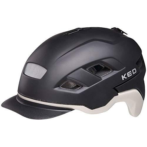 KED Berlin M Black ash opaco – 52 – 58 cm – incl. cinghia di sicurezza RennMaxe – Casco da bicicletta, casco da skater, MTB, BMX, adulti e ragazzi