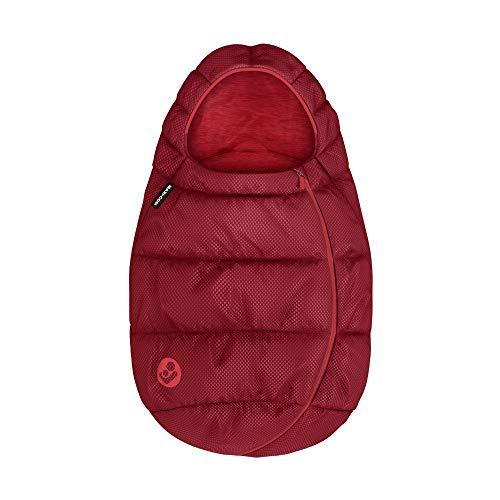 Maxi-Cosi Fußsack, kuschelig warm und passend für alle Babyschalen, nutzbar ab der Geburt bis ca. 1 Jahr, 40-80 cm, essential red
