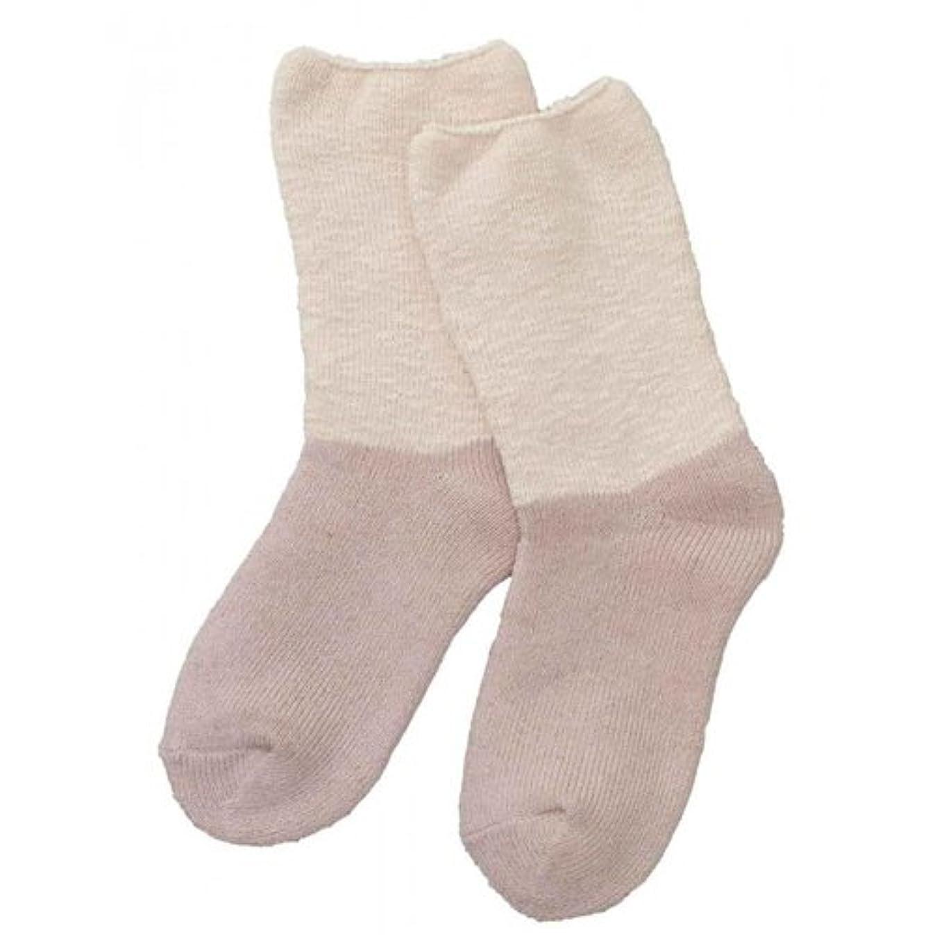 マッシュ製造業剃るCarelance(ケアランス)お風呂上りのやさしい靴下 綿麻パイルで足先さわやか 8706CA-12 ピンク
