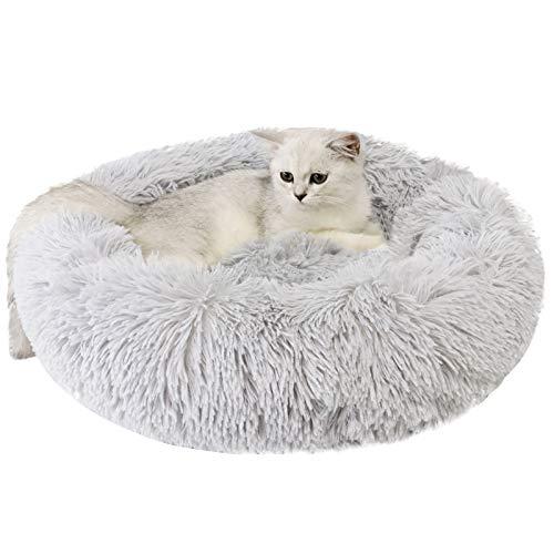 Legendog Haustierbett Kreative Runde Warme Weiche Flauschige Plüsch Haustier Schlafsofa Katzenbett