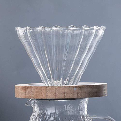 SEESEESEESEESEEUU - Bote de cristal resistente al calor para hervidor de agua Hario V60, botella de agua barista para verter sobre jarra, cafeteria, taza de filtro B