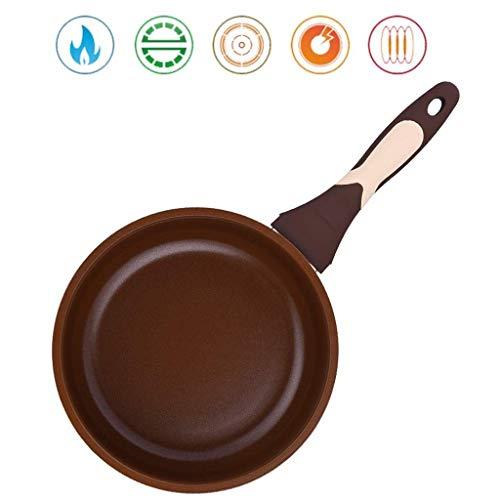 QTDH Non-stick braadpan, professionele dikking, hoge temperatuur, ontbijt, wok skillet pannen voor alle kookplaten, inductiepan - vaatwasser-vriendelijke