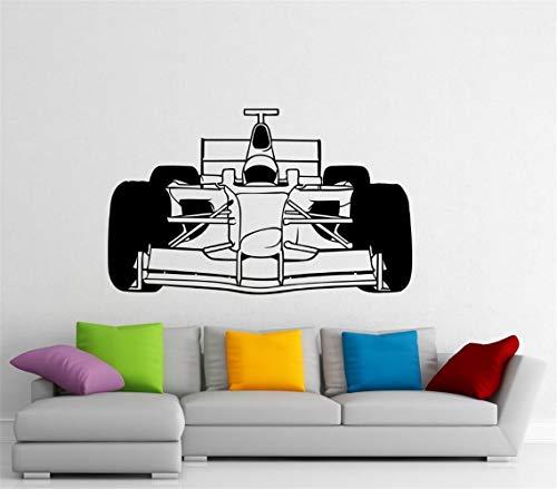wandaufkleber Formel-1-Auto-Sport-Rennwagen-Rennsport-Innenausgangs Kunst Wand Schlafzimmer Home Decor