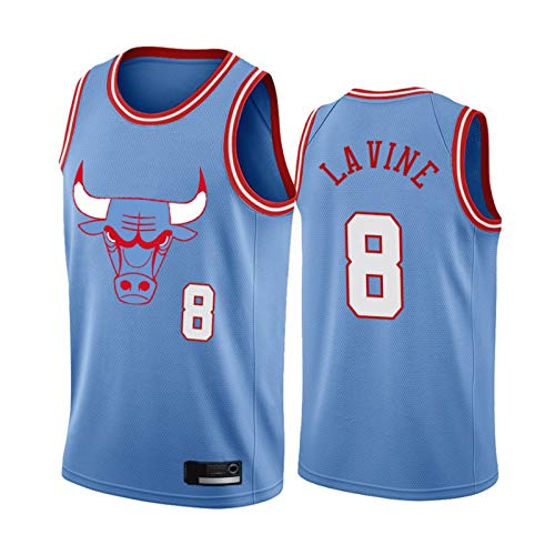 XZDM Camiseta De Baloncesto Zach LaVine, Uniforme De Baloncesto De Los Chicago Bulls N. ° 8, Camiseta Transpirable Bordada para Hombre Swingman Gym Vest Fan T-Shirt 19-20 City-S