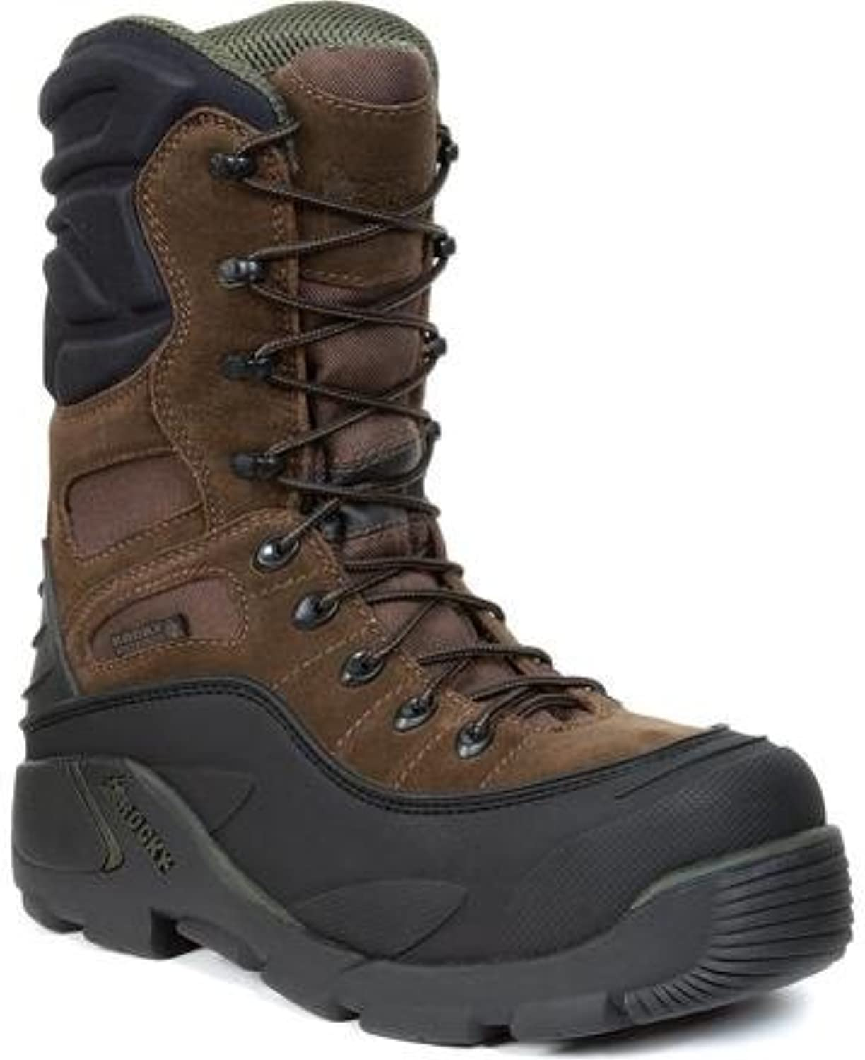Rocky FQ0007465 Men's BRN 9  RWP Steel Toe Men'sS Whole 8 Work Boots
