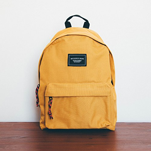 Watershed Mens Union Leather Badge Backpack - Mustard