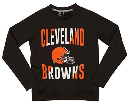 Outerstuff NFL Browns Boys 4-7 Performance Fleece Crew Neck LS TOP 5/6-M