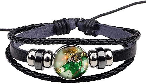 BMGFEW Armband Armband Legende Waffe Schild Schwert Foto Glas Konvex Runde Runde Schwarze Traube Armband Gamer Fan Geschenk