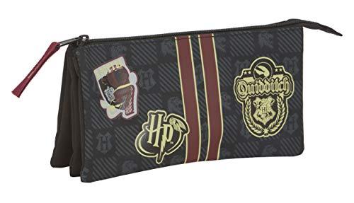 Safta Harry Potter Oficial Gryffindor Estuche Portatodo con Cremallera Ultraligero para Niños Unisex, L, Multicolor