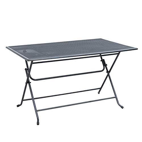 Ribelli Klapptisch aus Stahl - in eisengrau - Terassentisch Gartentisch Beistelltisch Tisch Esstisch Loungetisch