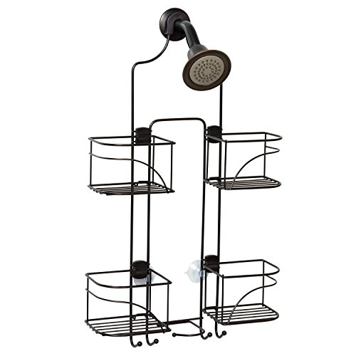 Zenna Home Expandable OverTheShower Caddy Bronze
