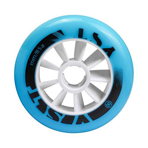 TGHY 2 Piezas Rueda Pro Stunt Patinete 90mm 100mm 110mm Rueda de Patinaje de Velocidad para Patines en Línea Rueda de Repuesto de PU 85A para Patineta para Niños,Azul,90mm