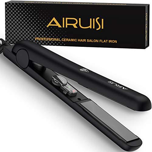 AIRUISI Ceramic Flat Iron for Hair, Professional Hair Straightener and Curler 2 in 1,...