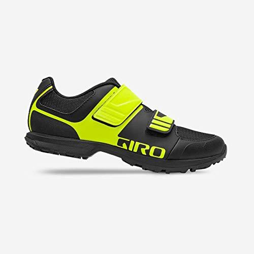 Giro Men's Berm Mountain Bike Shoe - Black/Citron Green - 7112 (Black/Citron Green - 50)