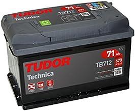 Batería para coche Tudor Exide Technica 71Ah, 12V. Dimensiones: 278 x 175 x 175. Borne derecha.