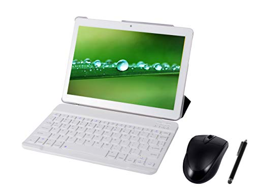 Tableta Android 9.0 3G, 4GB + 64GB, Tableta Android con Pantalla HD IPS de 10.0 Pulgadas, 2 Ranuras para Tarjetas SIM, Quad-Core, 1.3 GHz, Bluetooth, WiFi, GPS, cámara Dual, Blanco