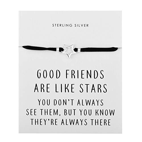 Philip Jones Sterling Silver Star Quote Bracelet on Quote Card
