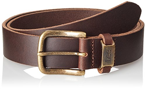 Lee Logo Belt Cintura, Marrone (Dark Brown 24), 85 Uomo