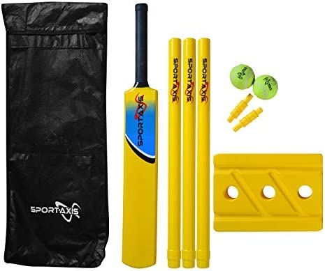 SPORTAXIS Premium Backyard Cricket Set Beach Cricket Bat Balls Stumps Bails and Carry Bag product image