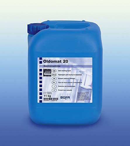 Oldomat 20, Chlorhaltiges, alkalisches, flüssiges Maschinenspülmittel, 11 kg, für den Einsatz in gewerblichen Geschirrspülmaschinen.n
