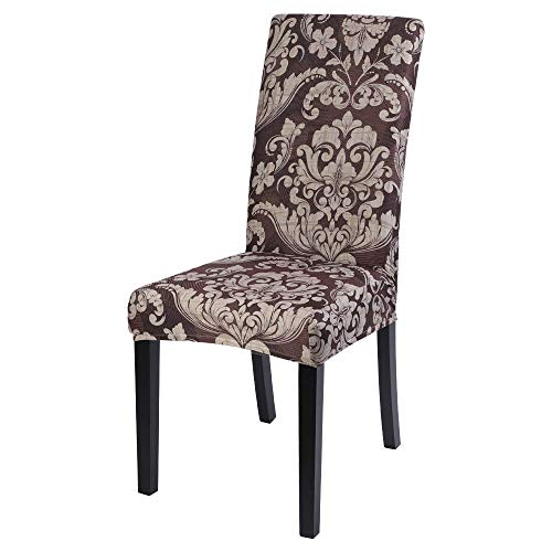 1/2/4/6 Chair Covers for Dining Room, European Style Elastic Stretch Removable Washable Chair Protective Covers, Dining Chair Slipcovers Elastic Chair Protector for Office Home Decor Wedding Party