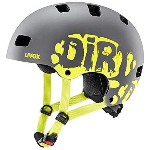 Uvex Kinder Kid 3 Radhelm - Dirtbike Neon-Yellow, 55-58 cm