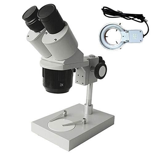 HYY-YY 30X 60X Industrial microscopio microscopio Binocular estéreo con la Herramienta de reparación del teléfono Celular Luz Fluorescente Reloj Reloj Reparación