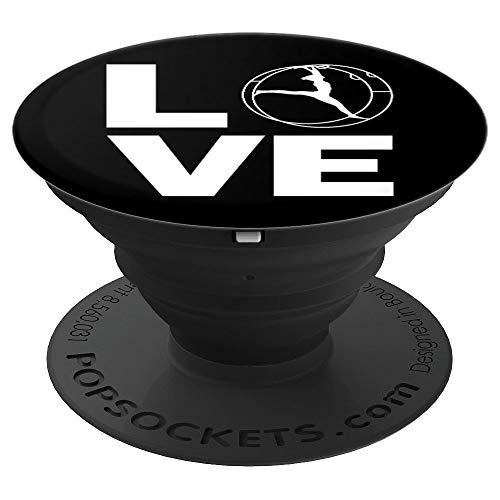 Rhönrad Turnen | Mit Liebe für alle Turner/Akrobaten - PopSockets Ausziehbarer Sockel und Griff für Smartphones und Tablets